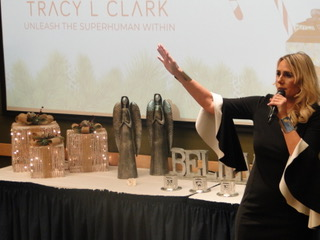 Tracy at the 2019 Christmas Giveback Event