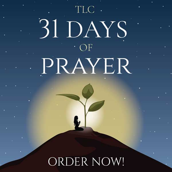 Order Tracy's new book 31 Days of Prayer now