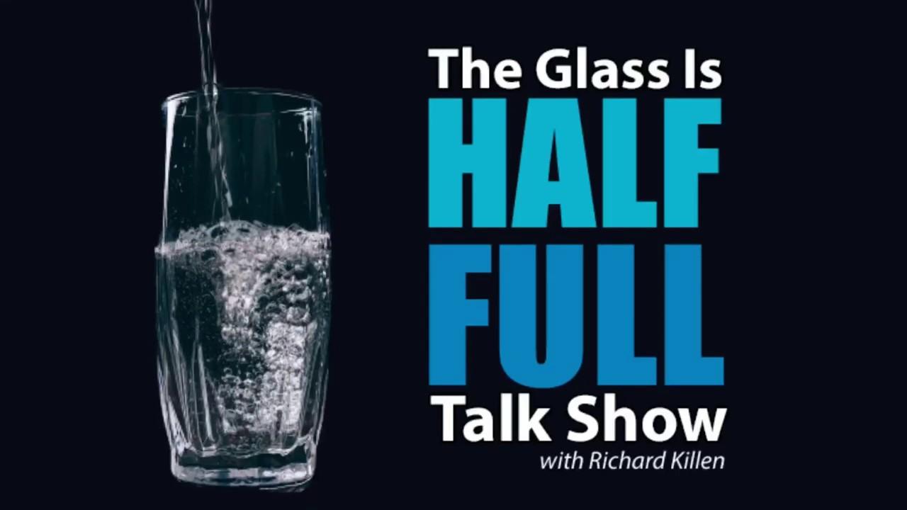 The Glass is Half Full Talk Show Logo